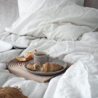 Monday's breakfast 🥐 #harmonyhomewear #pajamas #mondaymood #breakfast #pjs